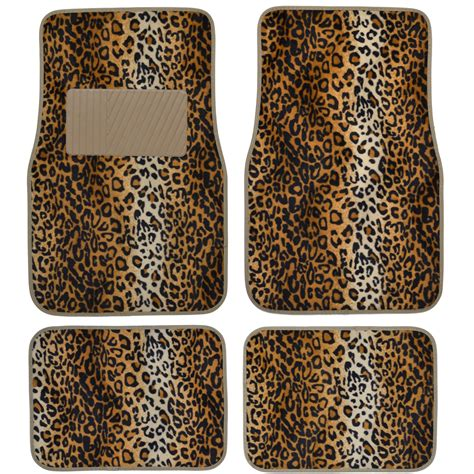 Animal Print Car Mats by 15pc Premium Animal Print Seat Covers And Front Rear