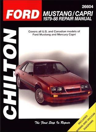 free service manuals online 1986 ford mustang spare parts catalogs ford mustang mercury capri repair manual 1979 1988