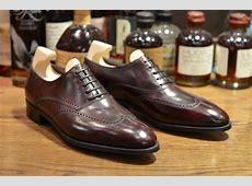 John Lobb - Hutton in Claret Misty (LSW) - Leather ... Imitation Leather