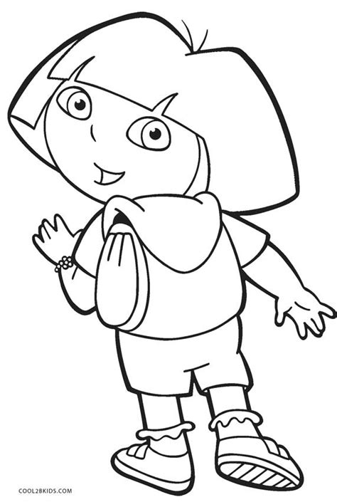 coloring pages free dora free printable dora coloring pages for kids cool2bkids