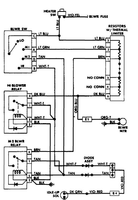 diagram for 2006 jeep wrangler heater motor diagram free