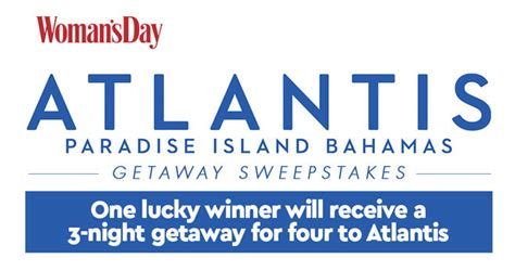 Women S Day Sweepstakes - sweepstakes giveaways and sweepstakes womans day woman s day atlantis getaway