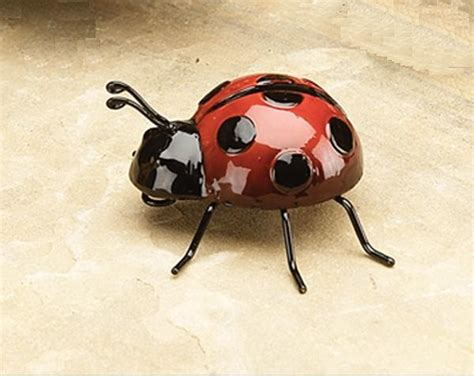Metal Bugs Garden Decor Small Metal Ladybug Garden Decor Garden