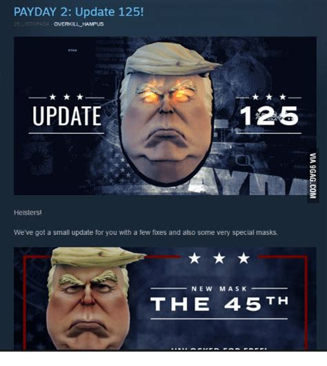 Payday 2 Meme - payday 2 update 125 overkill hus update 125 heisters
