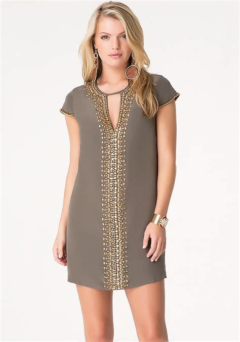 beaded shift dresses beaded silk shift dress bebe