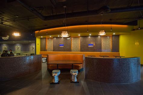 the bathroom restaurant outrageously themed magic restroom cafe soft opens
