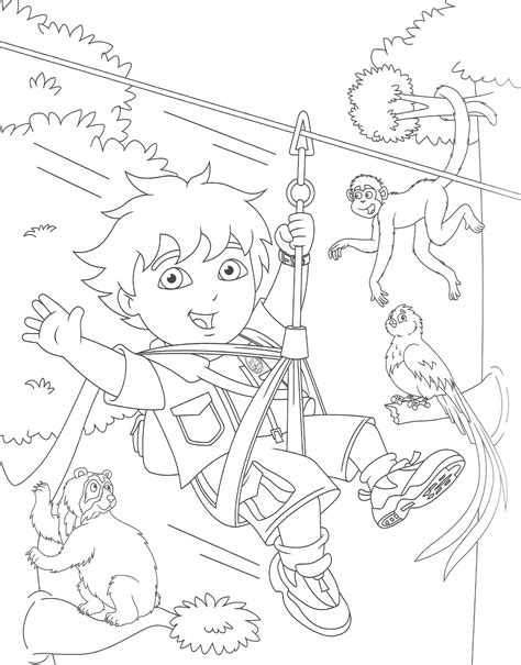 diego coloring pages free printable diego coloring pages for