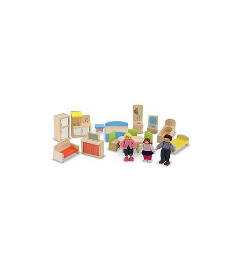 melissa doug doll house melissa doug hi rise wooden dollhouse and furniture set