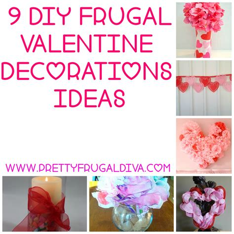 valentine home decorations 9 diy frugal valentine decor ideas pretty frugal diva