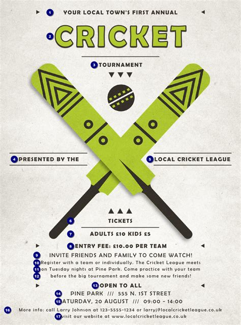 Cricket Flyers Templates Free