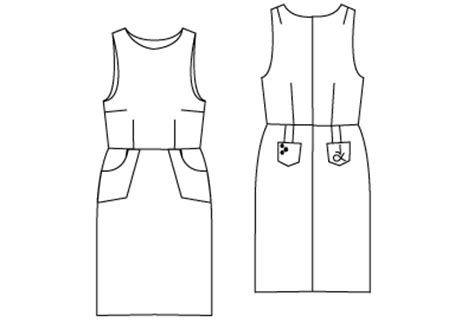 clothes pattern download free free pdf sewing patterns the pinafore dress pattern the