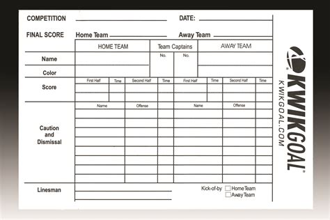 soccer referee card template soccer referee score sheets gopher sport