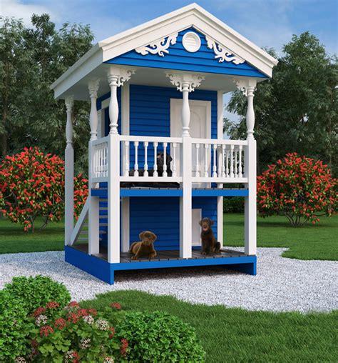 blue dog house luxury doghouse playhouse 9590 the house designers