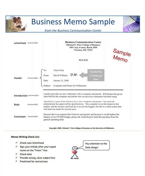 What Is Business Letter And Memo sle business memo formal business memorandum 11