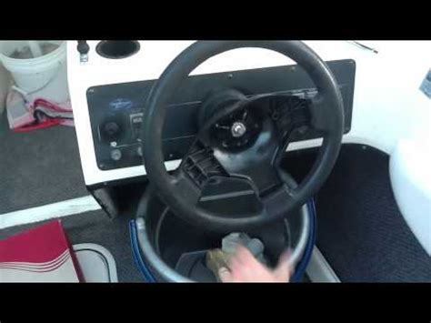 malibu boat steering cable replacement replacing a teleflex boat steering wheel youtube