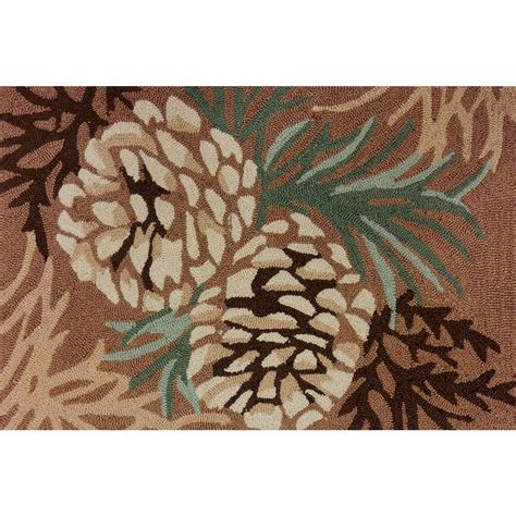 pine cone rug pinecone forest hooked rug