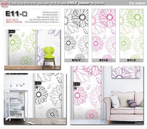 Closet Stickers by Flower Decor Sheet Mural Sticker For Door Wardrobe