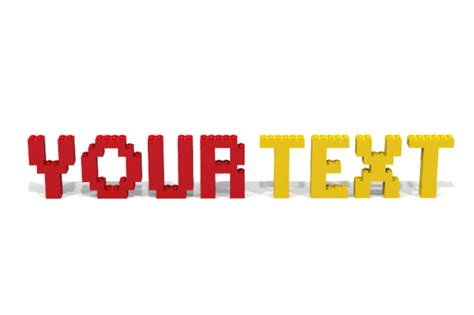 write your name or text using lego bricks fiverr