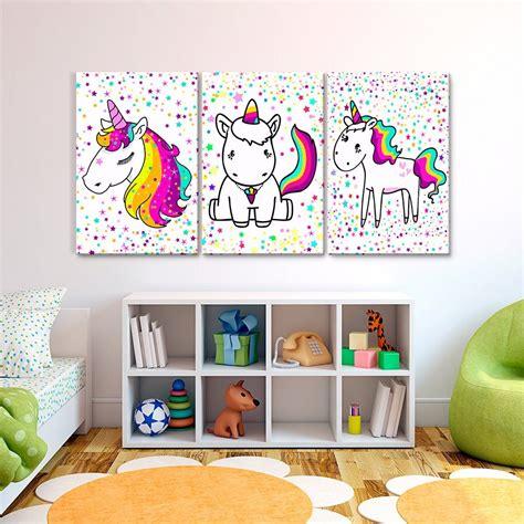 cuadros de cuadros decorativos joss design unicornio set de 3 pzs