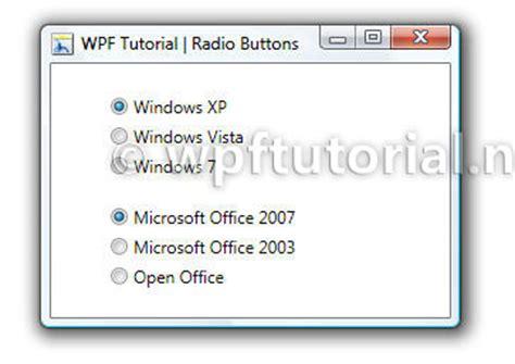 tutorial html radio button wpf tutorial radiobutton