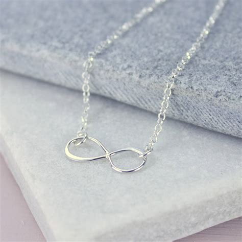 sterling silver infinity pendant by by corrine smith