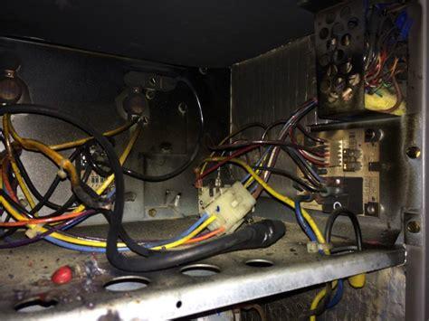 hvac burned up wiring