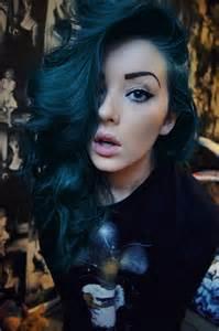 blue green hair color midnight blue hair on directions hair dye