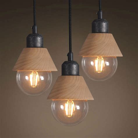 Decorative Pendant Light Fixtures Industrial Mini Wood Iron Pendant Light Hanging L Fixture Decorative Kitchen Chandeliers