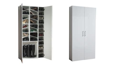 scarpiere armadi armadio scarpiera bianco lucido groupon goods