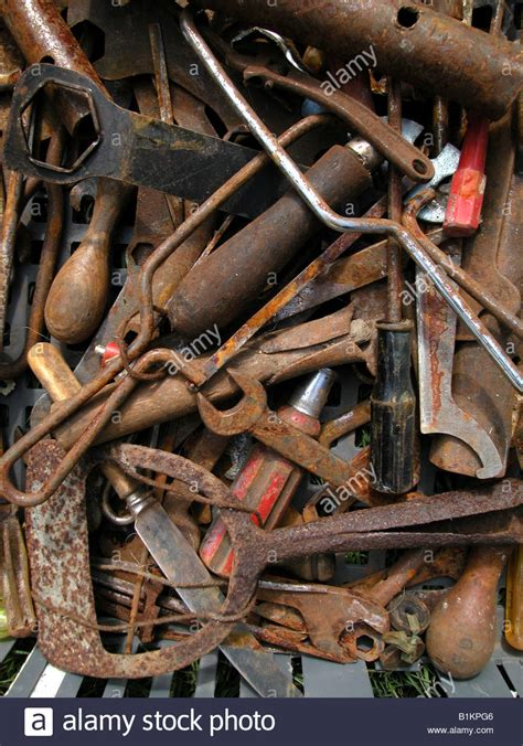 box  rusty  tools  sale  boot fair including