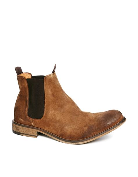 chelsea suede boots mens selected homme melvin suede chelsea boots in brown for