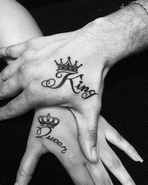 tattoo on hand king and queen king and queen crown tattoo drawing clipartxtras