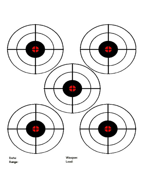 Printable Targets Template Free Download Shooting Target Template