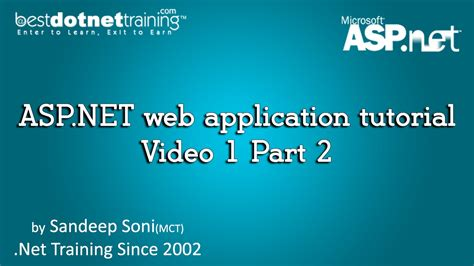 tutorial net web application asp net web application tutorial video 1 part 2