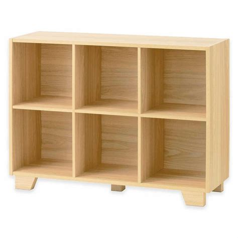 Simple And Shelving Unit Real Simple 174 Bi Directional 6 Cube Storage Unit In Natural