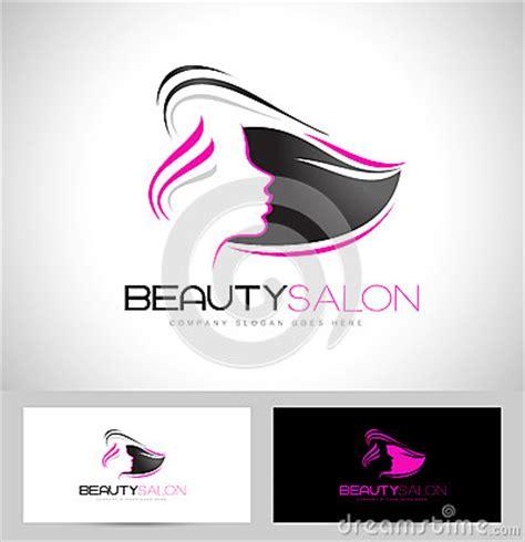 salon thank you card template hair salon logo stock vector image 53386006