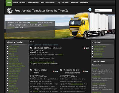 Global Logistics Free Joomla 1 5 Template By Themza Trucking Company Profile Template