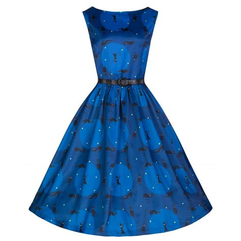 swing vintage dresses audrey retro black cat print swing dress audreys vintage