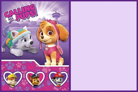 paw patrol birthday card template free invitation maker paw patrol gallery invitation sle