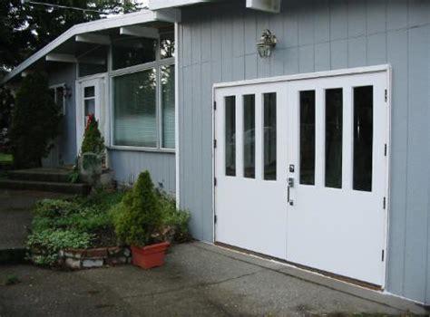 garage doors that swing open hand made custom swing carriage house garage door and real