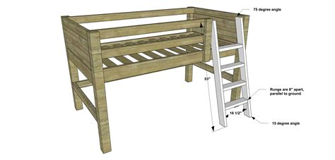 bunk bed ladder plans free diy furniture plans how to build a twin sized low