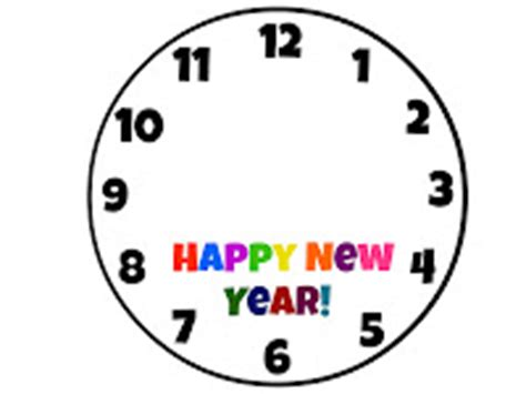 printable new years eve clock printable clock hands clipart best