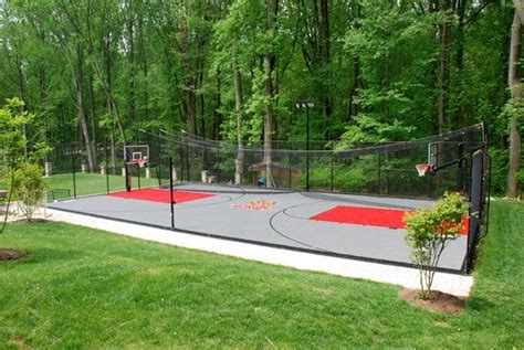 backyard batting cage plans basketball court batting cage general use exterior