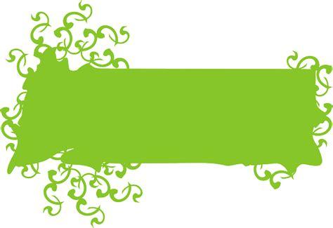 design banner png green design banner blank decoration ivy public