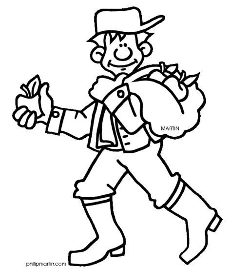 appleseed coloring page johnny quot appleseed quot chapman coloring sheet school