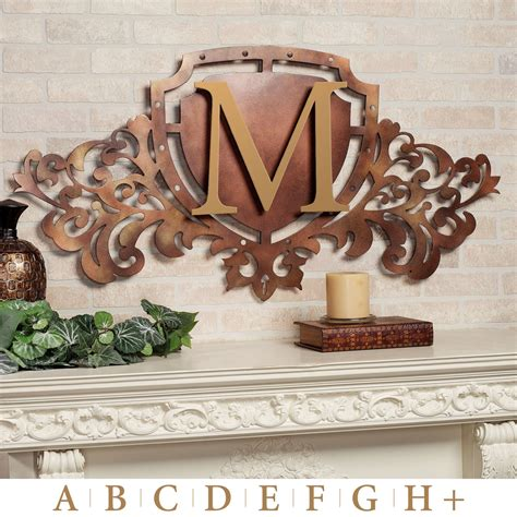 bronze metal wall decor generations bronze monogram crest metal wall sign