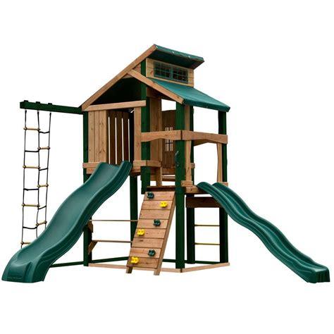 swing n slide alpine swing n slide playsets hideaway clubhouse plus playset