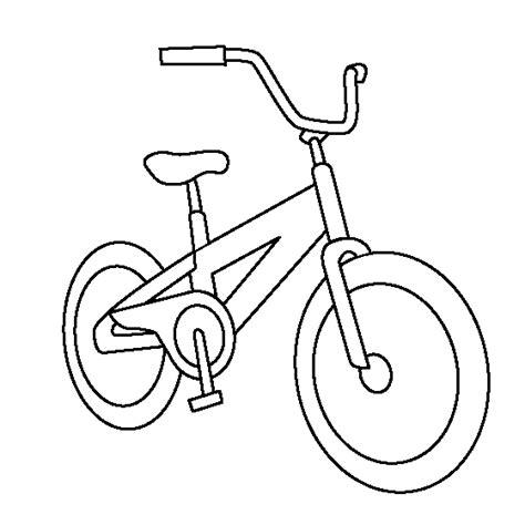 boys bike coloring page