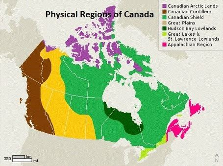 regional map of canada 1 canadian regional geography your canada physical