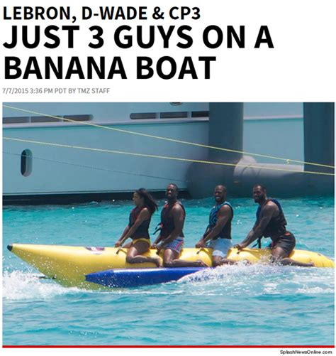 lebron banana boat amizade 233 isso lebron wade e chris paul dividem um